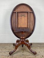 Victorian Mahogany Oval Tilt Top Table (7 of 12)