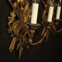Italian Giltwood Pair of Twin Arm Wall Lights (2 of 10)