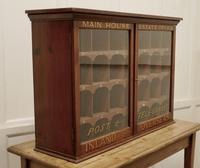 19th Century Mahogany Estate Office Mail Cupboard (3 of 10)