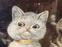 "Victorian Louis Wain Print ""Bachelors Party"" c.1896 Advert for Capstan Cigarettes (9 of 13)"