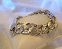 "Vintage Sterling Silver Gentlemans ID Bracelet 66.7 Grams 8 3/4"" Length (3 of 12)"