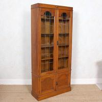 Oak Leaded Glazed Bookcase Arts & Crafts (3 of 10)