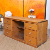 Pine Dresser Base Sideboard 19th Century Desk Country Victorian (5 of 8)
