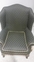 Georgian Style Upholstered Wing Armchair c.1920 (3 of 7)