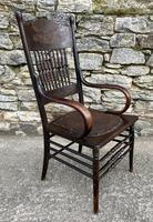 Antique American Armchair with Steamed Bentwood Arms (14 of 14)