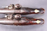 Pair of mid 18th Century Continental Flintlock Holster Pistols (6 of 7)