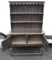 1920's Oak Dresser With Display Rack (4 of 4)