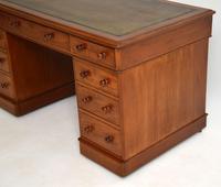 Antique Victorian Mahogany  Leather Top Pedestal Desk (8 of 11)