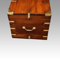 Victorian brass bound teak military chest (4 of 7)