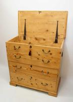 Large  2 Part Victorian Pine Mule Chest - Refurbished (21 of 27)
