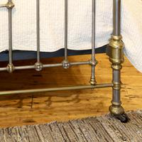Late Victorian Cast Iron, Steel & Brass Antique Bed (9 of 9)