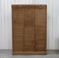 Triple Tambour Front Filing Cabinet
