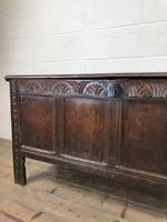 Antique Carved Oak Coffer (4 of 13)
