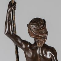 Magnificent 19th Century French Bronze Sculpture of Arabian Sentinel, Signed J.Angles (8 of 19)