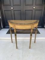 Fine Pair of Georgian Painted Demi-Lune Pier Tables (6 of 10)
