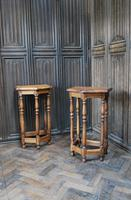 Pair of Turned Oak Bedside Tables (2 of 5)