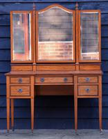 Exceptional Quality Edwardian Satinwood Dressing Table with Mirrors c.1901 (9 of 14)