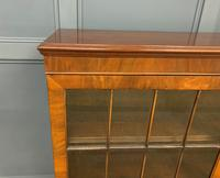 Burr Walnut Glazed Bookcase (3 of 14)
