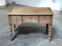 French Bleached Oak Writing Desk (8 of 21)