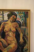 Seated Female Nude Oil on Board by Dino Mazzzoli 1988 (4 of 5)