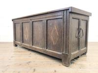 Antique Oak Panelled Coffer (6 of 8)