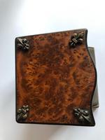 Antique Walnut Veneer Vesta Box with Striker (5 of 8)