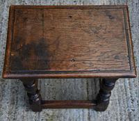 Lovely 19th Century Oak Joint Stool c.1800-1850 (7 of 10)