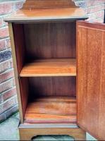 Edwardian Mahogany Wood Inlaid Bedside Cabinet (5 of 7)
