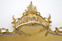 Large Antique Chippendale Style Gilt Brass Mirror (3 of 12)
