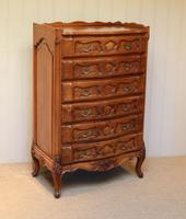 French Cherry Wood Tall Chest of Drawers (8 of 12)