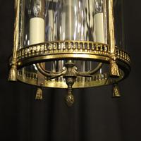 French Convex Gilded Twin Light Antique Lantern (8 of 10)