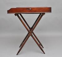 19th Century Mahogany Butlers Tray on Stand (5 of 10)