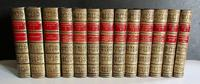 1891 The Novels of  William Makepeace Thackeray.   Complete in 13 Fine Leather Bindings