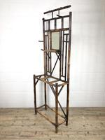Late Victorian Antique Bamboo Hall Stand with Mirror (6 of 7)