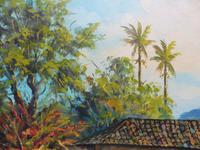 Large oil on canvas tropical sunshine view Brazilian artist Chediac (4 of 10)