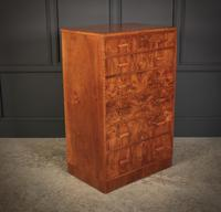 Art Deco Figured Walnut Chest by Maple & Co. (3 of 13)