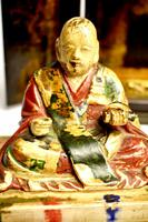 Travelers 19th Century Japanese Buddha/ deity in black lacquered case (4 of 10)