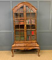 Burr Walnut Dome Topped Display Cabinet (21 of 21)