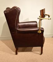 Edwardian Mahogany Leather Wing-back Armchair (7 of 10)