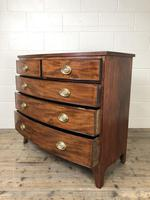 19th Century Mahogany Bow Front Chest of Drawers (7 of 18)