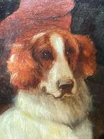 """19th Century Oil Painting Sporting """"Game Dogs"""" Signed Robert Cleminson (26 of 48)"""
