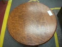 Circular Folding Oak Occasional Table (2 of 4)