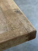 Enormous French Bleached Oak Farmhouse Dining Table (20 of 38)