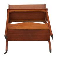 Victorian 19th Century Satin Walnut Bookcase / Book Trough (3 of 6)