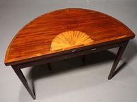 Good George III Period Mahogany Demilune Table (5 of 6)