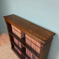 Quality Arts & Crafts Victorian Oak Large Open Bookcase (2 of 6)