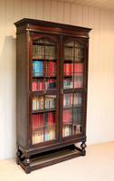 Tall Oak Glazed Bookcase (7 of 10)