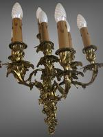 Pair of Stunning Huge 7 Arm French Rococo Style Gilt Bronze Wall Lights Sconces (4 of 9)