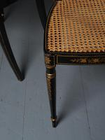 Set of 3 Regency Style Painted Bergere Chairs (14 of 18)