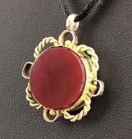 Antique 9ct Gold Compass Pendant, Carnelian (9 of 13)